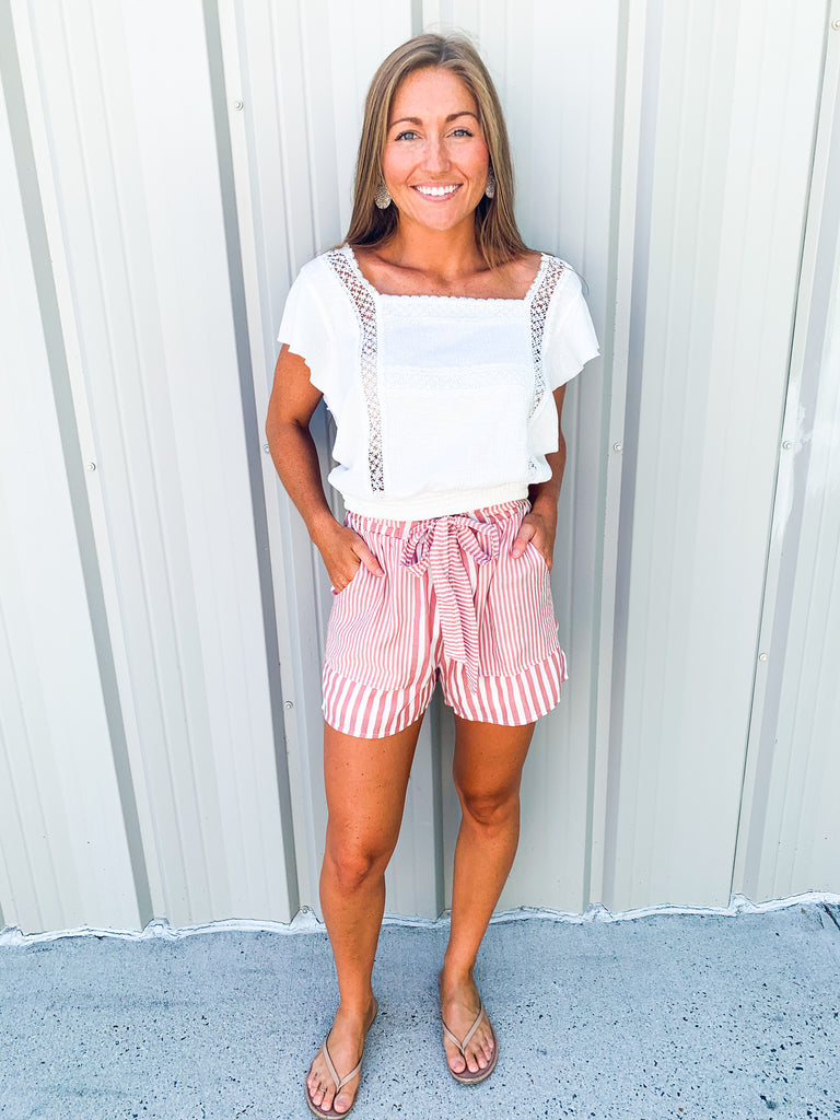 Stripes On Stripes Shorts - BOMSHELL BOUTIQUE