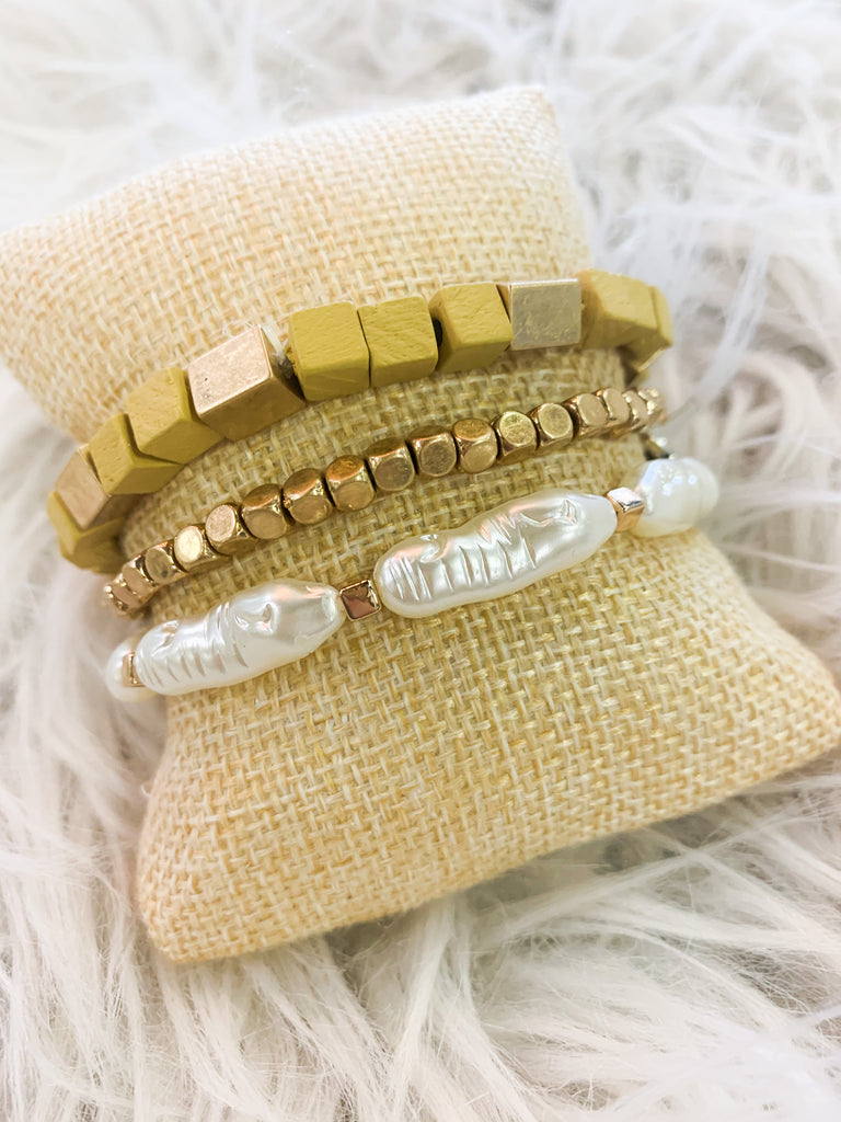 Golden Shell Bracelets