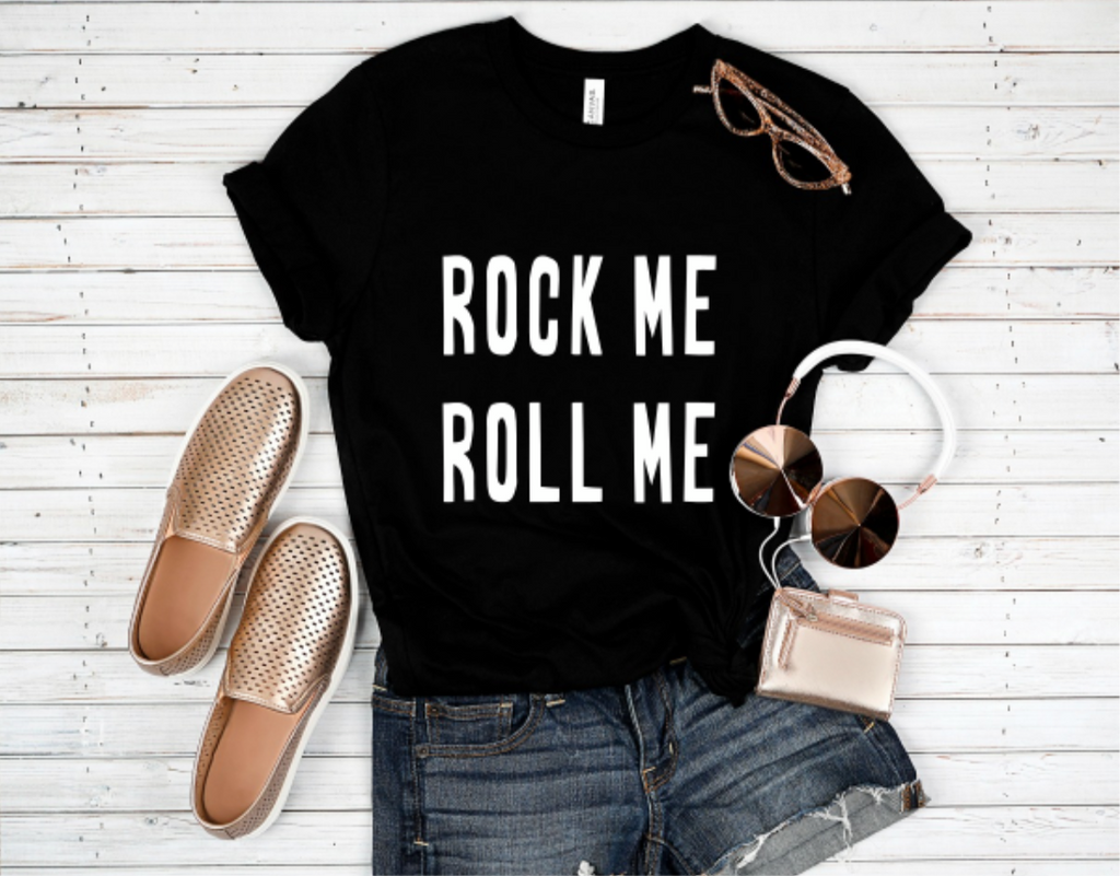 Rock Me Roll Me Graphic T-shirt - BOMSHELL BOUTIQUE