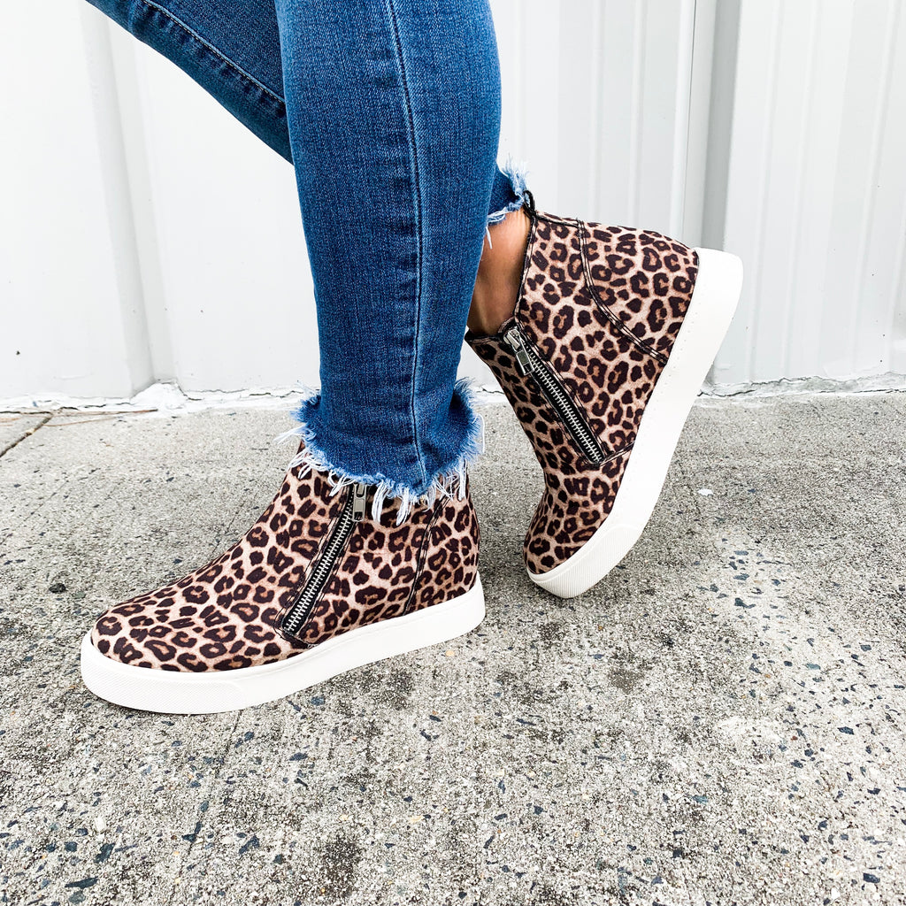 Camden Animal Print Wedge Sneakers