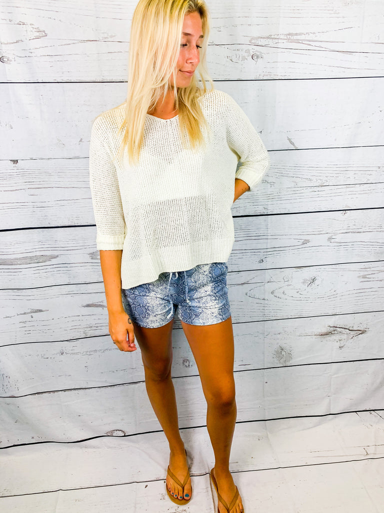 Boardwalk Nights Knit Sweater - Ivory