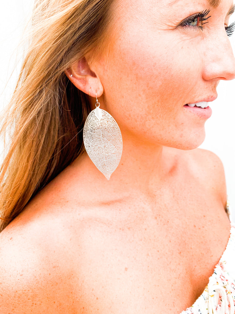 Ainsley Earrings-Silver - BOMSHELL BOUTIQUE