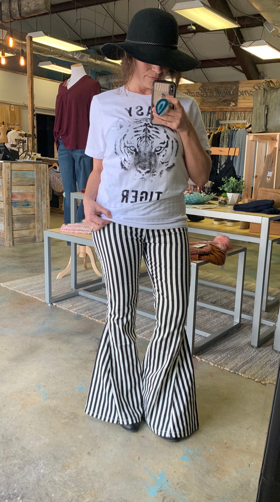 Iman Striped Flare Pants