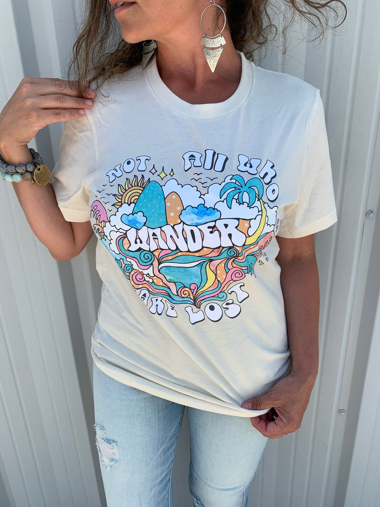 Not All Who Wander Are Lost T-Shirt - BOMSHELL BOUTIQUE
