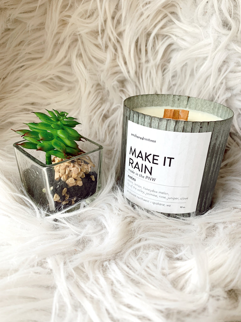 Make It Rain Rustic Vintage Candle - BOMSHELL BOUTIQUE