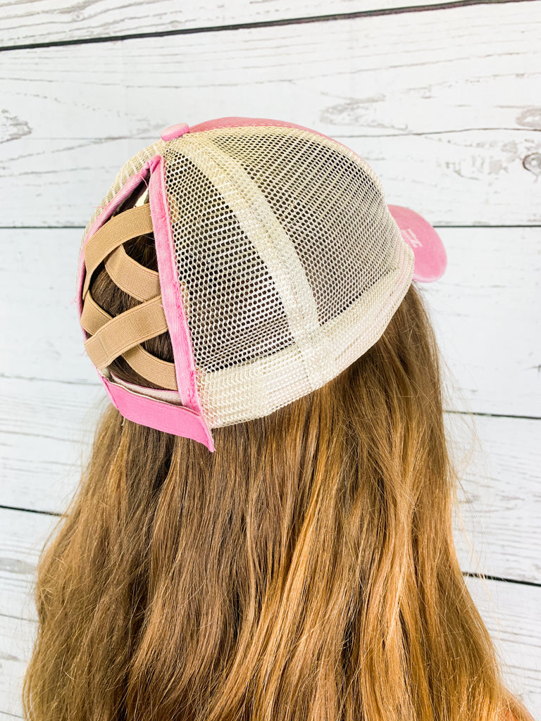 The Crissy Hat- Pink - BOMSHELL BOUTIQUE