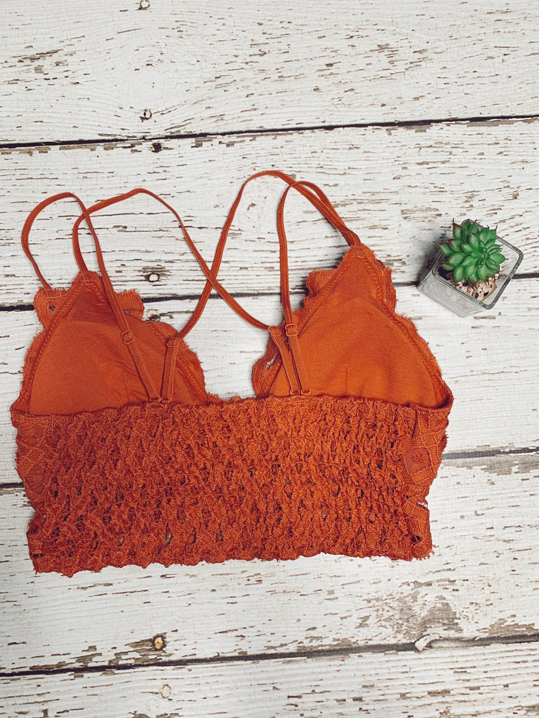 The Ella Bralette - Rust - BOMSHELL BOUTIQUE