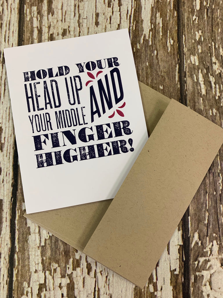 Hold your head up card - BOMSHELL BOUTIQUE