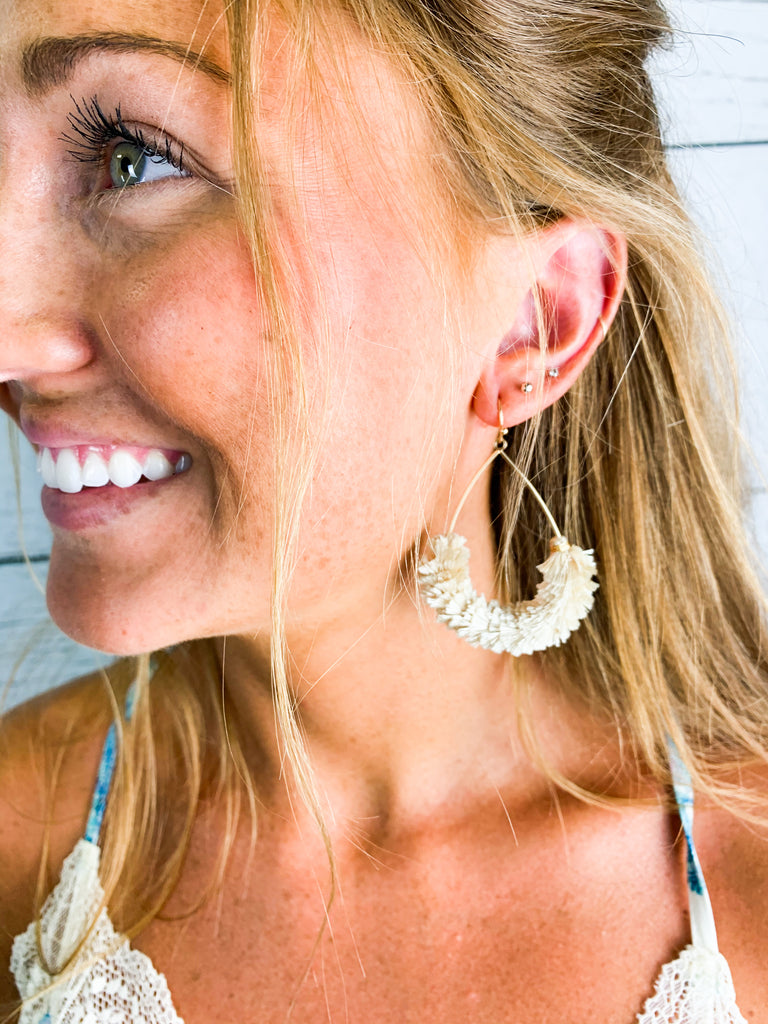 Cha Cha Earrings - Ivory - BOMSHELL BOUTIQUE