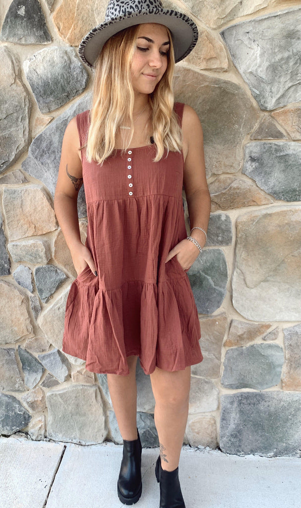 Dollie Dress-Burl Wood - BOMSHELL BOUTIQUE