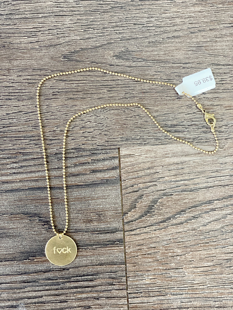 F<3ck Circle Necklace