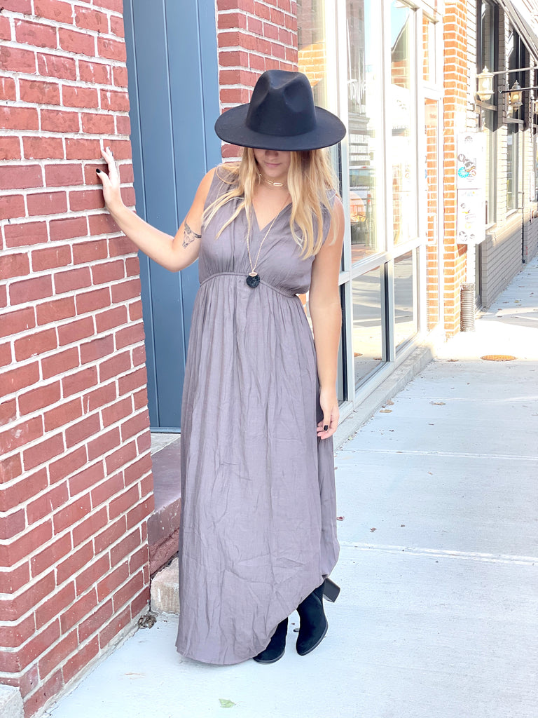 Marley Maxi Dress-Ash - BOMSHELL BOUTIQUE