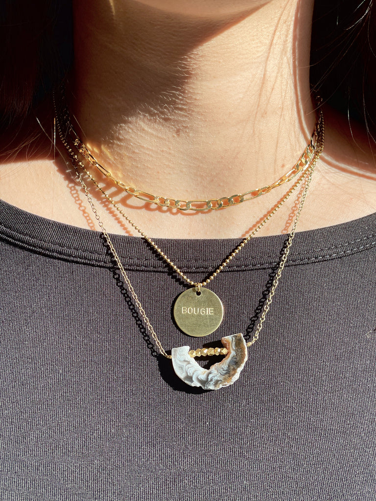 Bougie Circle Necklace