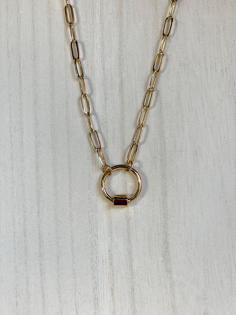 Mini Round Carabiner Necklace