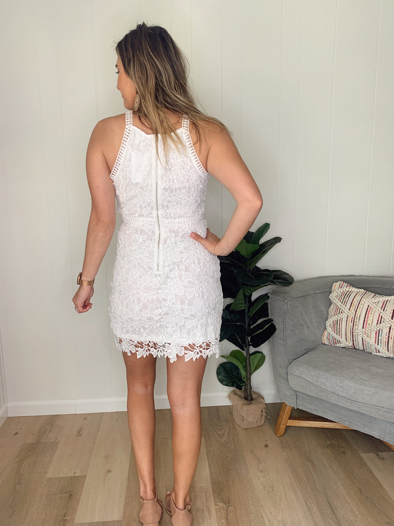 Peyton Bodycon Dress- Off White
