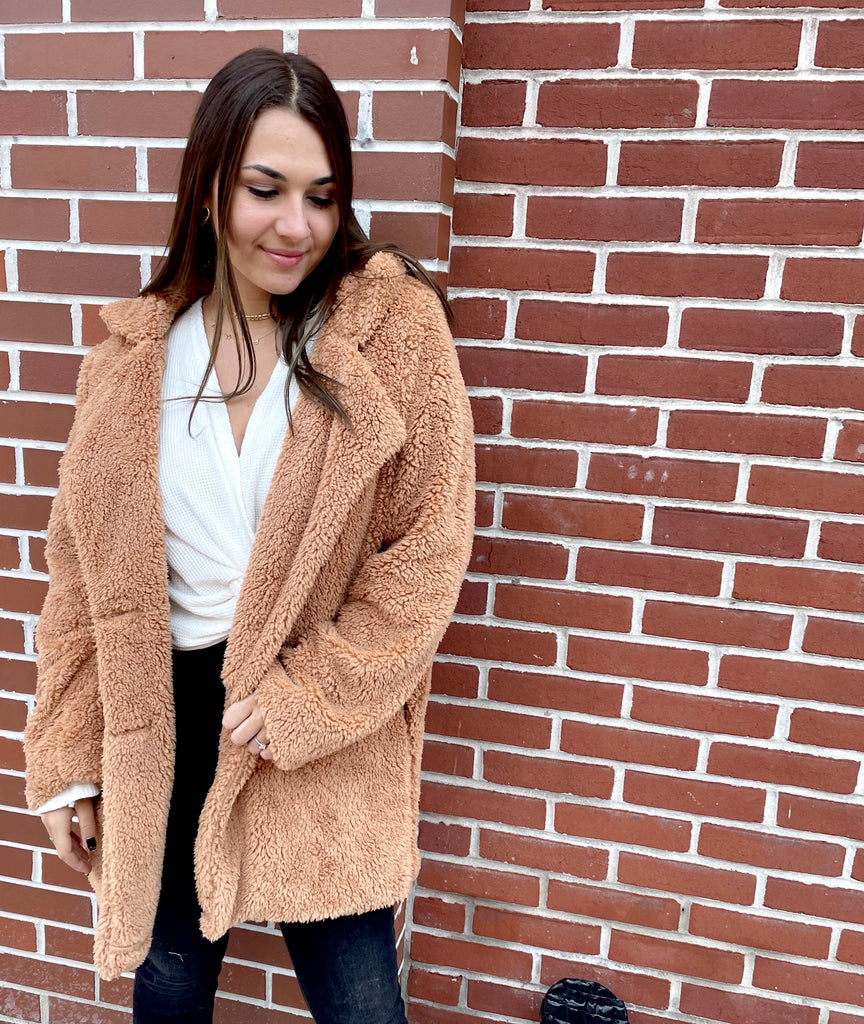 Cool for the Winter Jacket- Tan