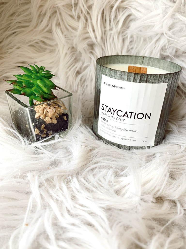 Staycation Rustic Vintage Candle - BOMSHELL BOUTIQUE