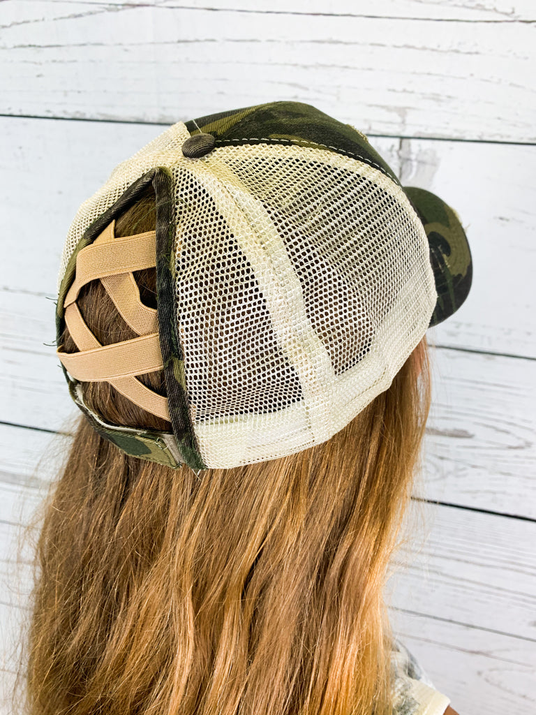 The Crissy Hat- Camo - BOMSHELL BOUTIQUE