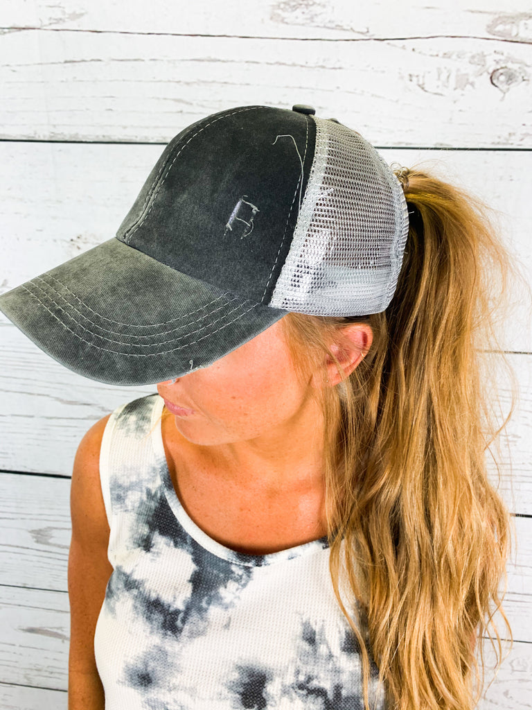 The Crissy Hat- Grey