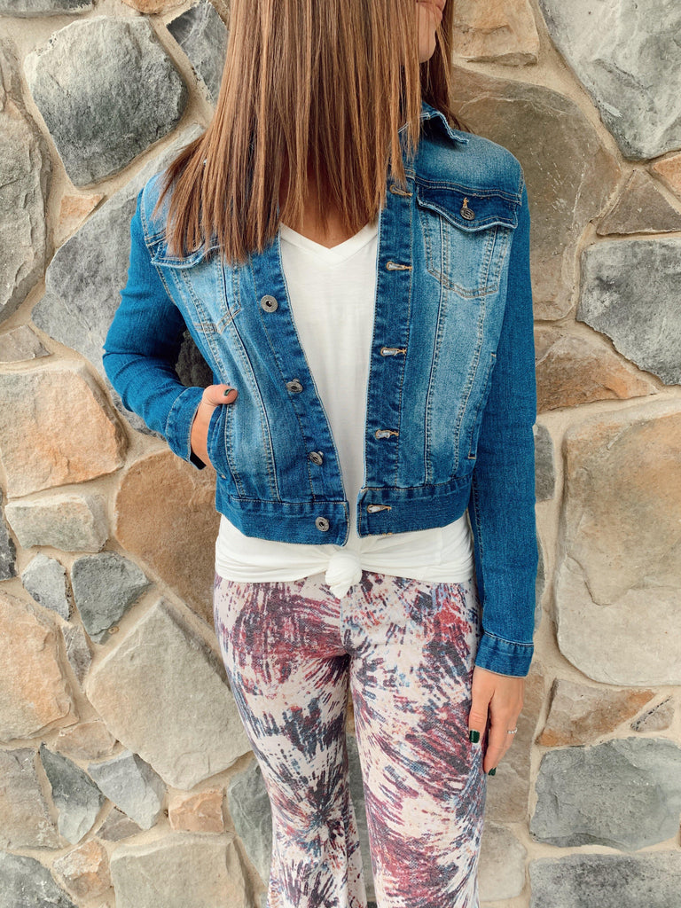 Throw It On Denim Jacket - BOMSHELL BOUTIQUE