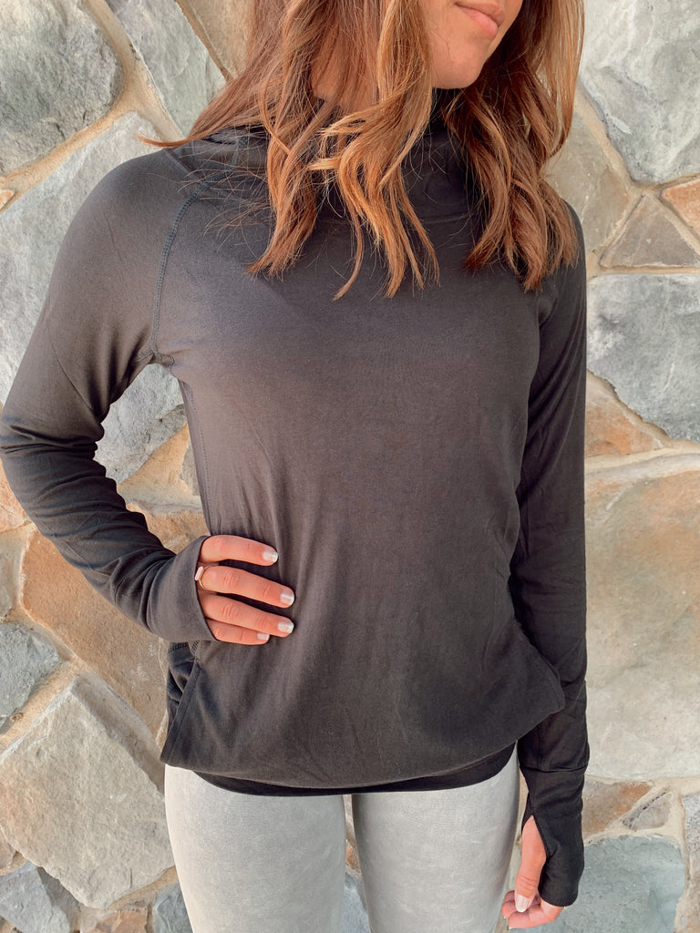 Sleek Hoodie Top - BOMSHELL BOUTIQUE