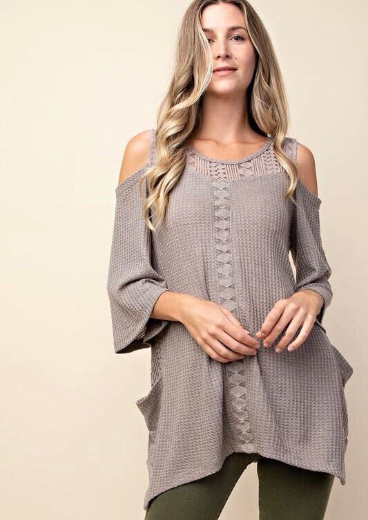 Lovers Thermal Tunic in Mocha
