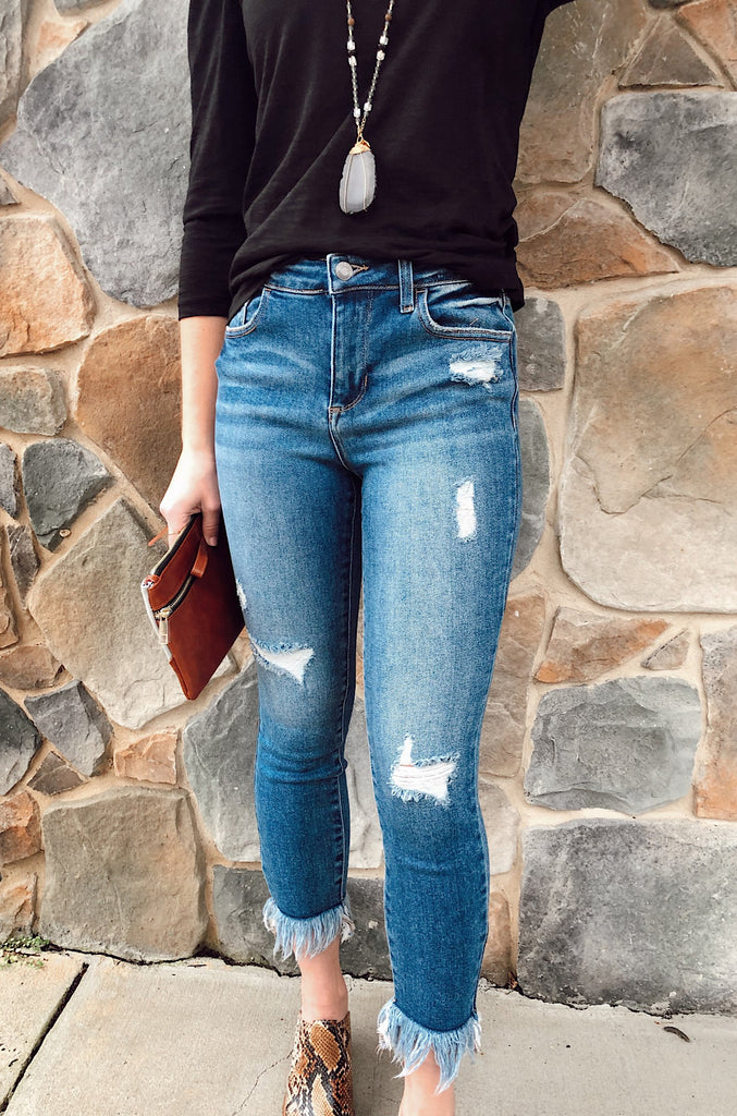 Mandy Mid Rise Skinny Jeans