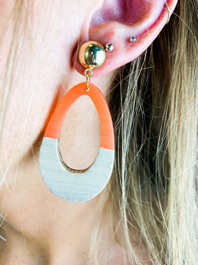 Ingrid Earring- Orange - BOMSHELL BOUTIQUE