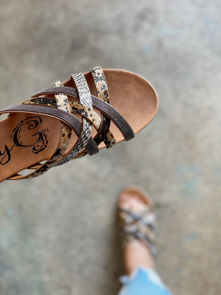 Giselle Sandals - Taupe Cheetah