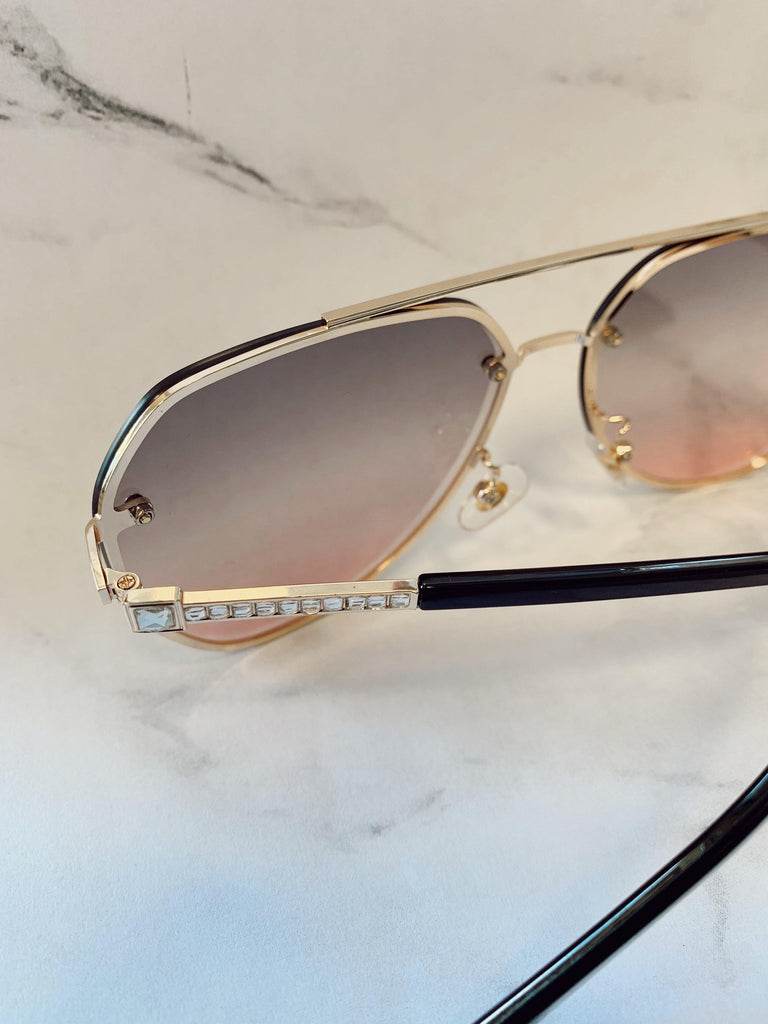 By The See Sunglasses-Clear - BOMSHELL BOUTIQUE