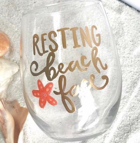 Hand Painted Stemless Wine Glasses - BOMSHELL BOUTIQUE