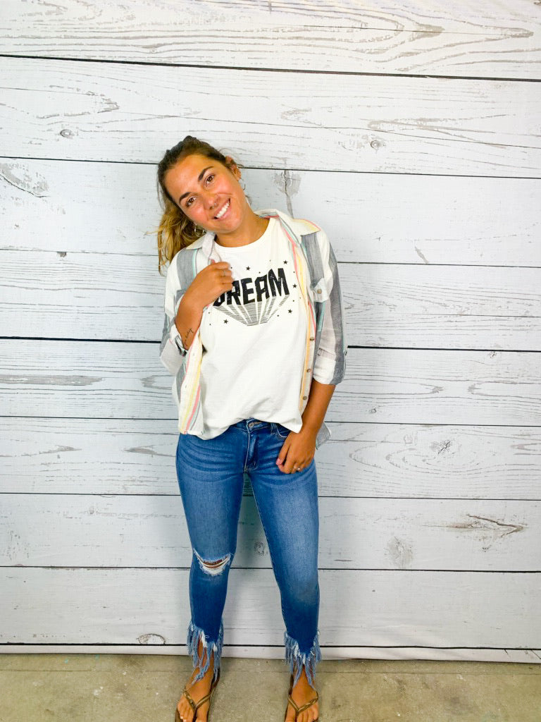 Dream Tee - Off White - BOMSHELL BOUTIQUE