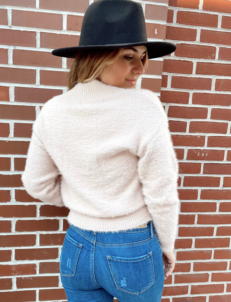Stay Awhile Sweater in Blush - BOMSHELL BOUTIQUE