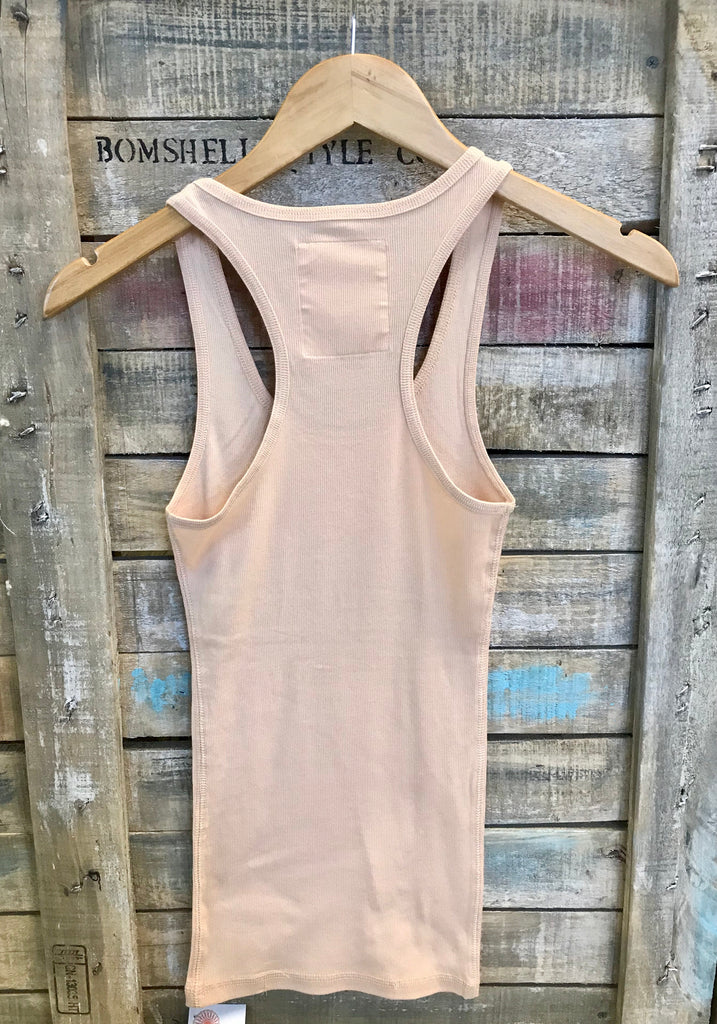 Racer Back Tank in Sand