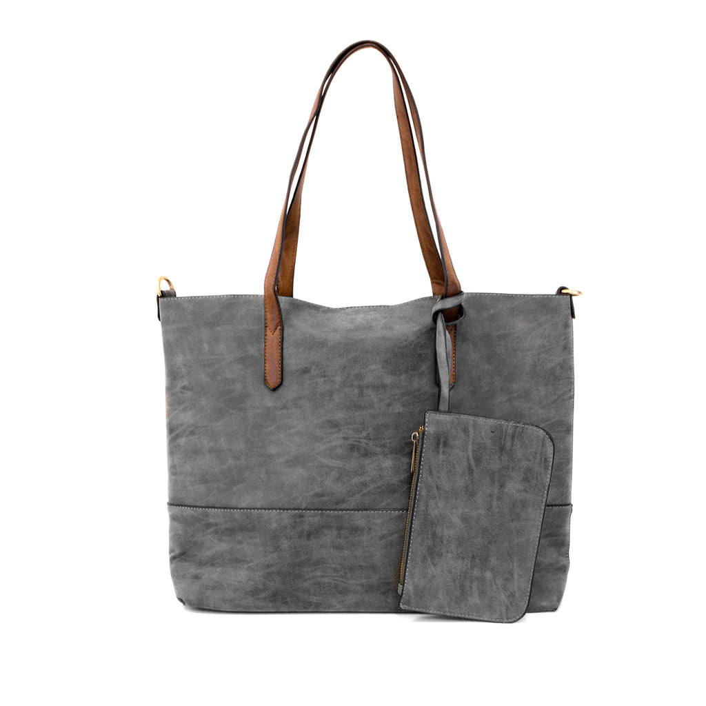 Brushed 2 in 1 Handbag - BOMSHELL BOUTIQUE