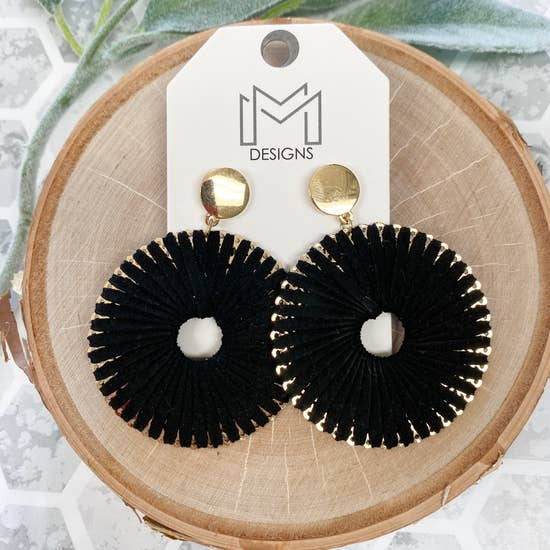 Ra Earring in Black - BOMSHELL BOUTIQUE