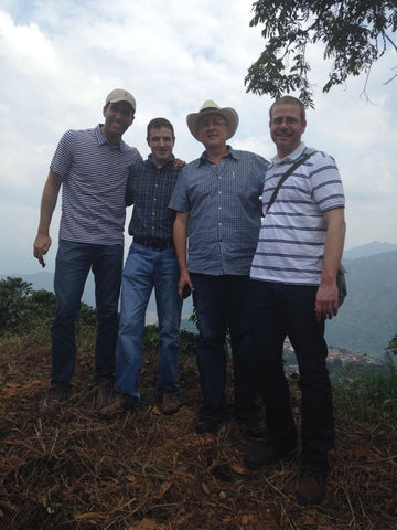 Darrel with our Importer & Charlie Requadt  and Coffee Farmers