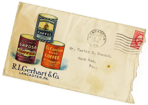 antique coffee postcard Gerhart