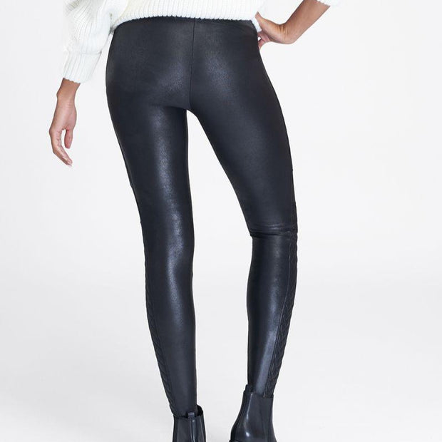 Spanx, FAUX LEATHER QUILTED LEGGINGS - Bellizima