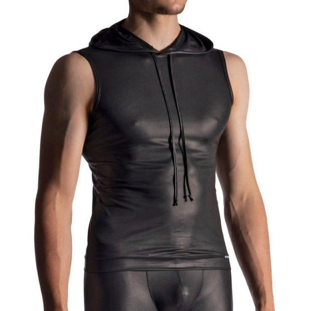 Manstore, HOODY TANK | LATEX-OPTIK | SCHWARZ - Bellizima