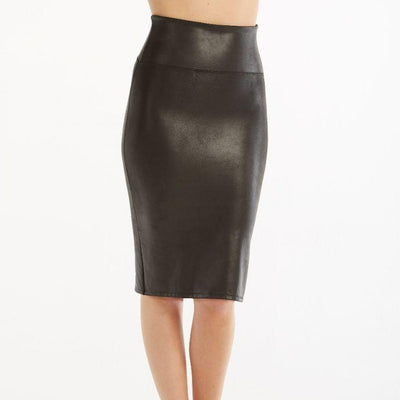 Spanx, FAUX LEATHER PENCIL SKIRT | SALE - Bellizima
