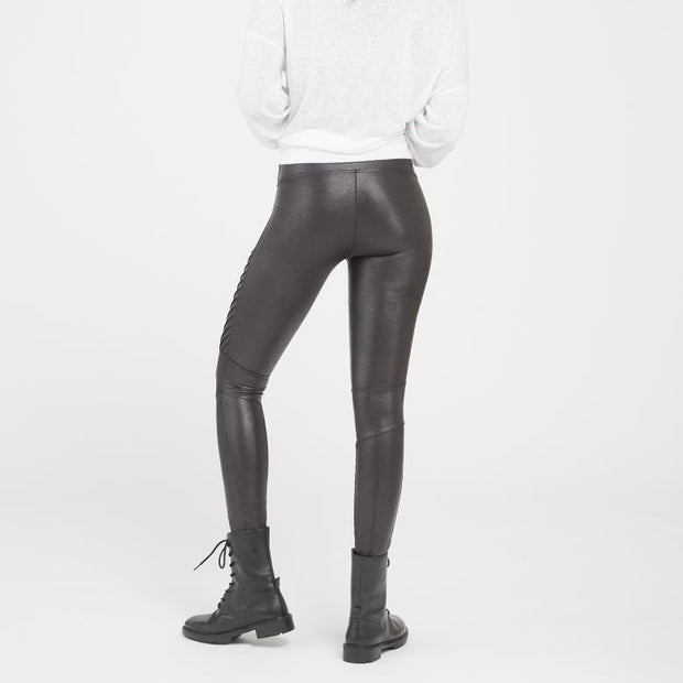 Spanx, FAUX LEATHER MOTO LEGGINGS - Bellizima