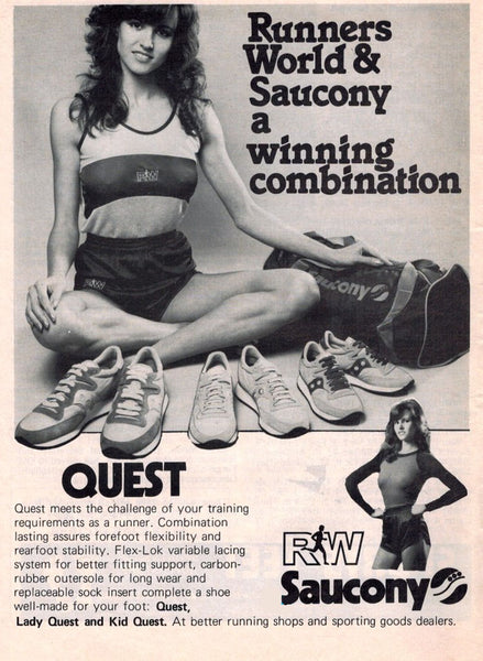 Vintage Saucony Sneakers Advert