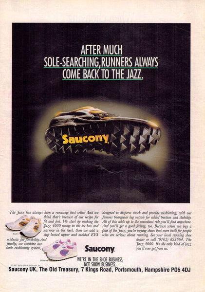 Vintage Saucony Jazz Advert