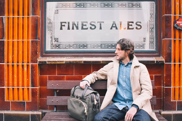 Outfit Baracuta Trench Original Jacket Our Legacy Chambray Shirt Filson Padded Briefcase