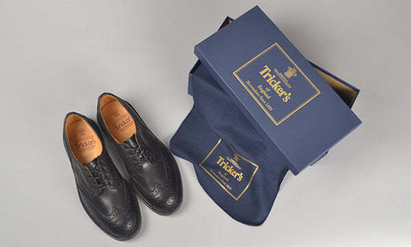 Trickers Black Brogue Keswick Shoe