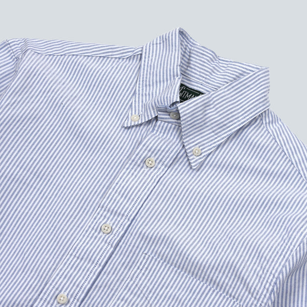 GITMAN VINTAGE - STRIPED OXFORD SHIRT - BLUE