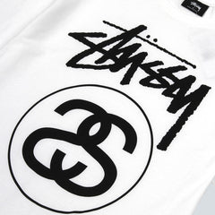 STUSSY-STOCK LINK TEE-WHITE