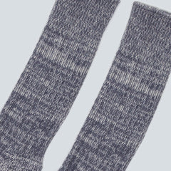 UNIVERSAL WORKS-MARL SOCK-GREY