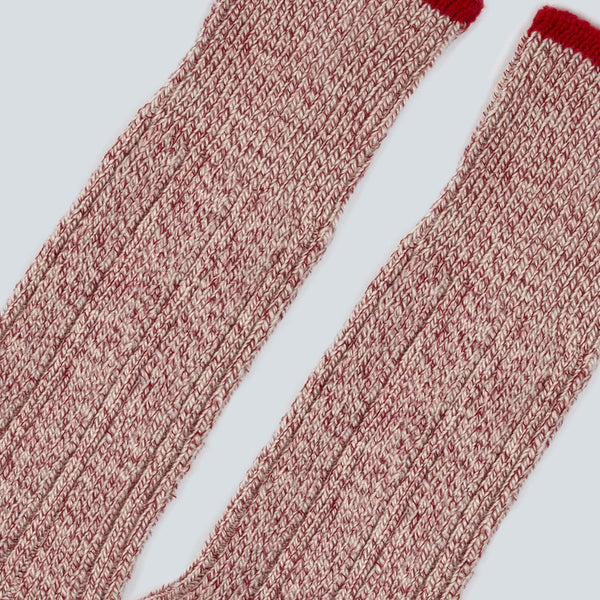 UNIVERSAL WORKS-RIB SOCK-RED